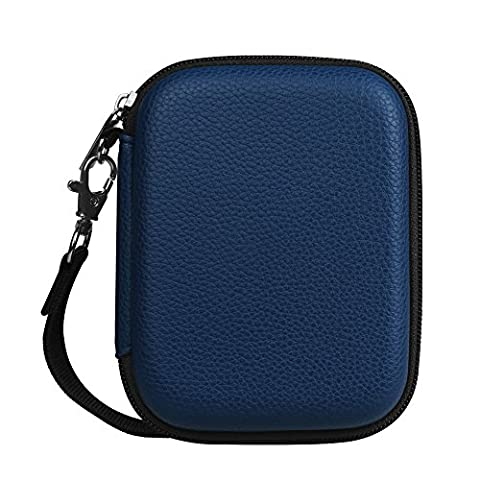 Fintie PU Leather Coated Hard EVA Shockproof Carring Case for Seagate Backup Plus Slim, WD My Passport, Toshiba Canvio Basics, Canvio Connect, Samsung T3 SSD 2.5 inch External Hard Drive, (Buffalo 1 Tb External Hard Drive)