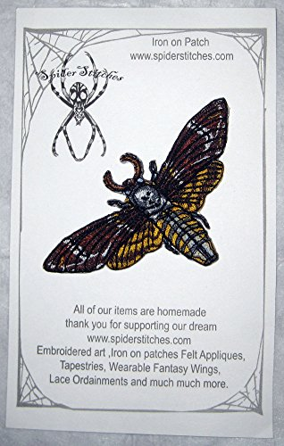 Death Gothic Costumes (Death's Head Hawk Moth Iron on Patch)