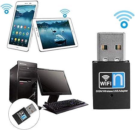 XVZ USB Wifi Dongle,USB 2.0 WiFi Adapter 300M Dual Band 2.4G Wireless Mini WiFi Network Dongle Compatible For Raspberry Pi//Laptop//Desktop//PC Support Windows 2000//XP//Vista//WIN7//8//Linux//Mac OS X