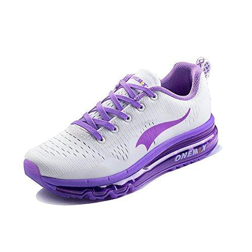 mit Walking Laufschuhe Lavendel Max Schuhe Sneaker Lila Turnschuhe Air Leichte Schuhe Damen Luftpolster Athletisch Sportschuhe für onemix Frauen RPFq8