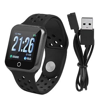 Zerone Fitness Tracker podómetro Smartwatch Tensiómetro Pulsómetro IP67 Resistente al Agua Fitness Reloj Podómetro Pulsera para Mujeres y Hombres para ...