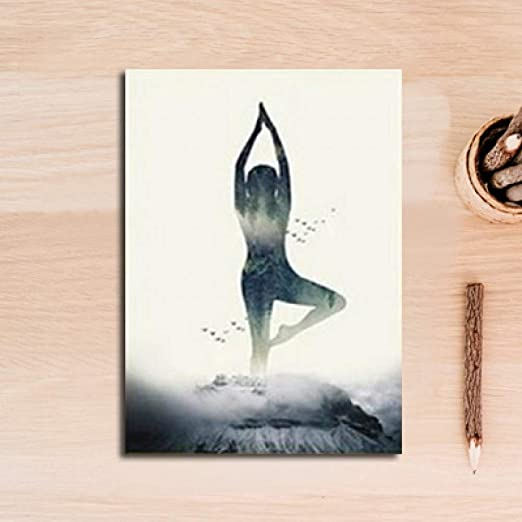 JJHR Poster Impresión De La Lona Patrón De Yoga Abstracto ...