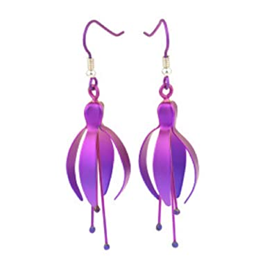crystal trendy shape fuschia zdx tear earrings index fuchsia
