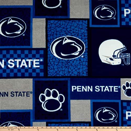Sykel Enterprises NCAA Penn State Patch Fleece Multi, Fabric by the Yard