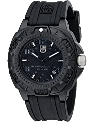 Luminox Mens 0201.BO Sentry 0200 Blackout With Rubber Band Watch