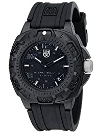 Luminox Men's Sentry 0200 Blackout With Rubber Band Watch 0201.BO