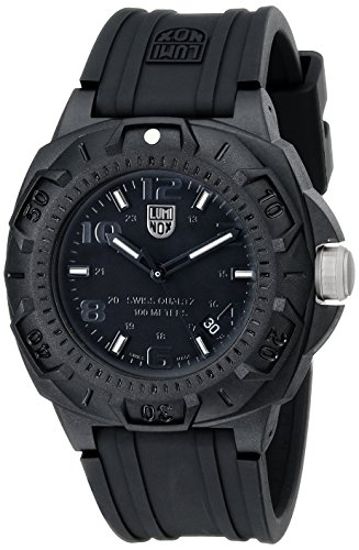 Luminox Men's 0201.BO Sentry 0200 Blackout With Rubber Band Watch by Luminox