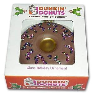 Amazon.com: Dunkin' Donuts Chocolate Doughnut Glass Holiday ...