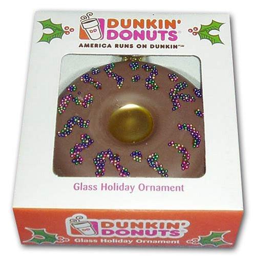 Dunkin' Donuts Chocolate Doughnut Glass Holiday -