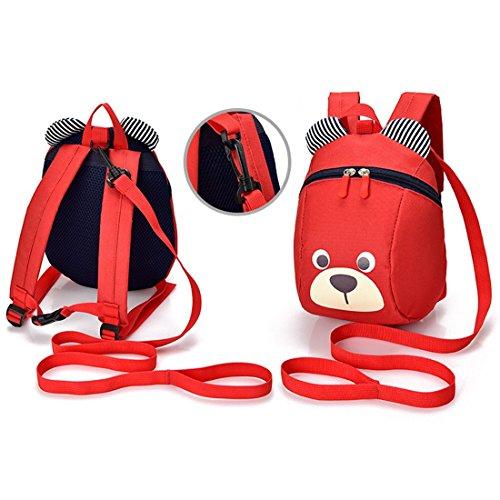 Kindergartenrucksack Babyrucksack kinder Süß Cartoon RucksackSchuletaschen Backpackfür Jungen Mädchen (Rot) Rot VGpTJWB
