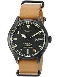 Timex Mens TW2P64700ZA The Waterbury Analog Display Analog Quartz Brown Watch