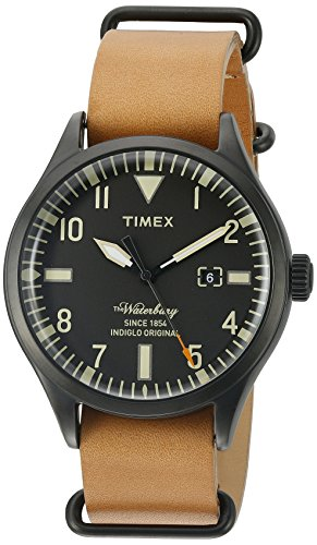 Timex Men's TW2P64700ZA The Waterbury Analog Display Analog Quartz Brown Watch