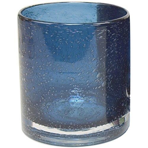 Artland Iris Double Old Fashioned Glasses, Slate Blue, Set of 4