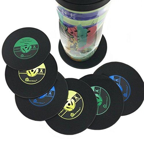 Vintage vinyl record drink coasters set of 10 - Coaster sets for drinks ...