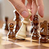 Magnetic Chess Set 12.5 Inch with Wood Chess Pieces Storage Slots   Lightweight Wooden Folding Travel Chess Board with Extra Queen   Handmade Tournament Chess Set   Wooden Board Game for Kids, Adults
