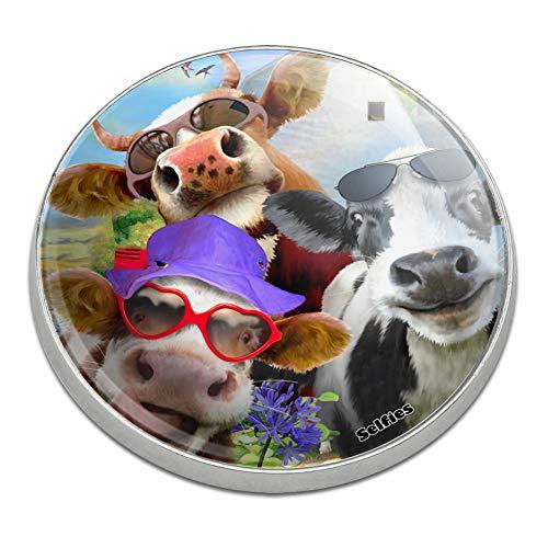 GRAPHICS & MORE Udderly Cool Cow Farm Selfie Golfing Premium Metal Golf Ball Marker (Marker Ball Cow Golf)