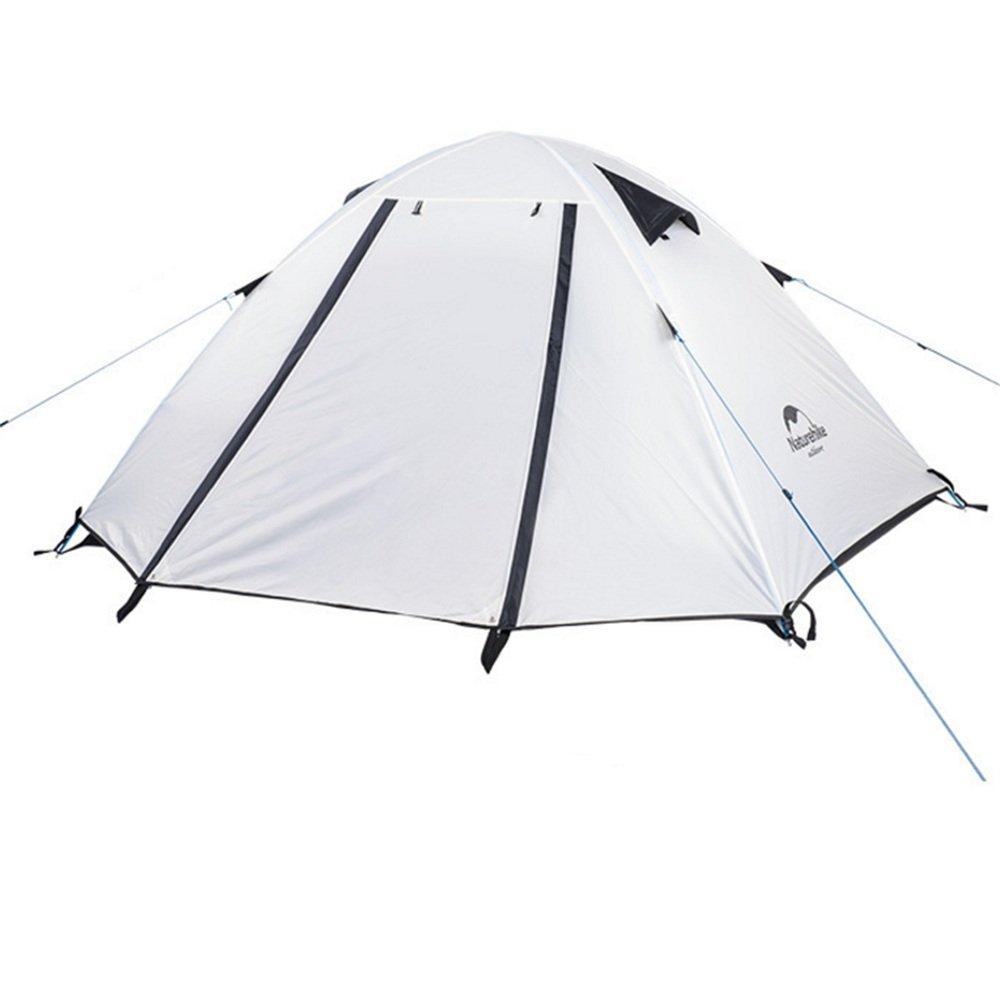 2人の頑丈なテント3シーズンダブルレインプロテクションバックパックテント/組み立てが必要超軽量キャンプ用ハイキング用防水   B07C1JMW2F