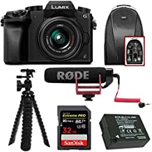 Panasonic LUMIX G7 Digital Camera with 14-42mm f/3.5-5.6 Lens & Rode Microphone Accessory Bundle (Black)