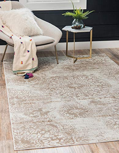 Unique Loom Sofia Traditional Area Rug, 4' 0 x 6' 0, Beige