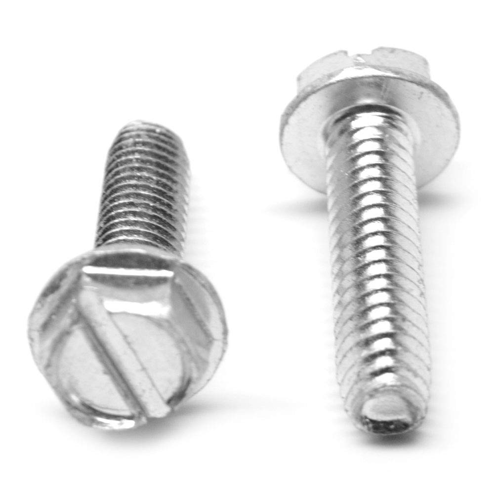Hex Drive Steel Sheet Metal Screw Hex Washer Head 7//8 Length #8-18 Thread Size Zinc Plated Pack of 100 Type B