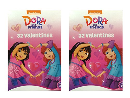 Dora and Friends 32 Valentine Cards (2 Pack)