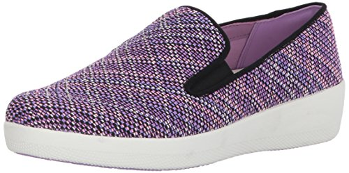 Fitflop Women's Superskate Twill Knit Flat Violet Mix 0xXrb