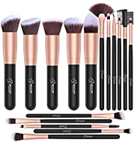 BESTOPE Makeup Brushes 16 PCs Makeup Brush Set Premium Synthetic Foundation Brush Blending Face Powder Blush Concealers...
