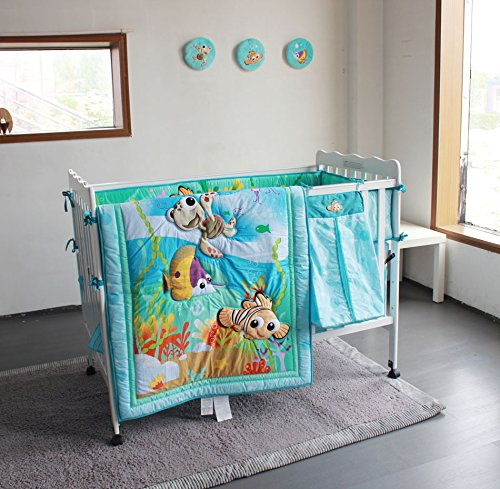 New Baby Boy Girl Neutral Animal Ocean Nemo 11pcs Crib Bedding Set with Bumper -