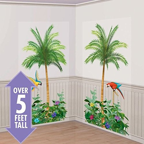 (Amscan Palm Tree Party Scene Setters, 65