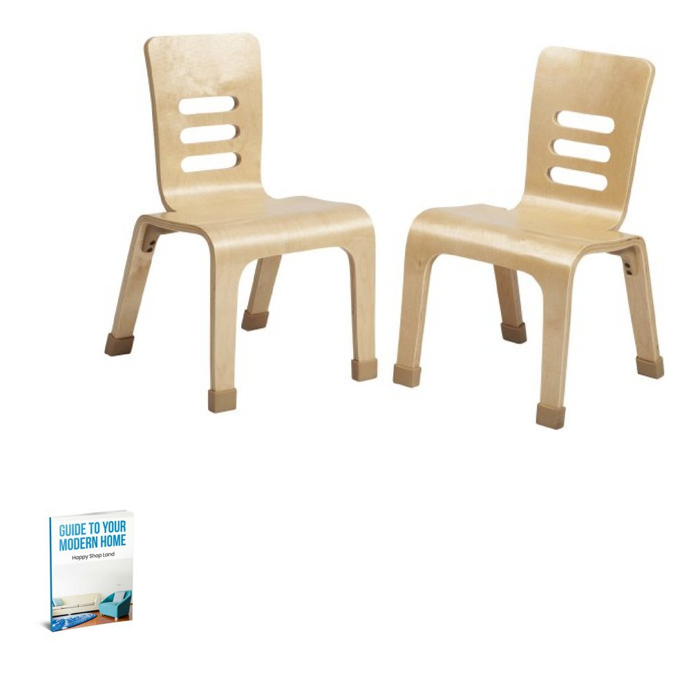 Minimalist Accent Chair For Kids, Natural Color, Easy Transportation, Ideal For Indoor Spaces, Stylish And Comfortable, Modern Design, Sturdy And Set Of 2 Pieces, Durable Construction & E-Book