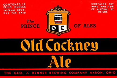- ArtParisienne Old Cockney Ale The Prince of Ales 12x18-inch Paper Giclée Print