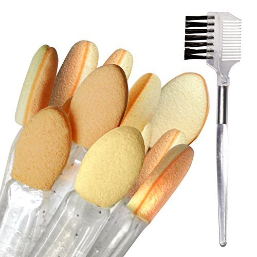 PANACHE Eye Make up Kit, Beauty, Tools & Accessories, Makeup Brushes & Tools,10 pcs. Eyeshadow Applicators & 2 in 1 Lash/Brow Groomer, Precise Blending, Seamless Application (Pack of 11)