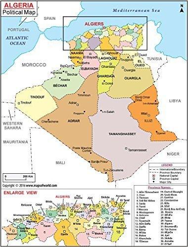 Amazon.: Algeria Political Map (36
