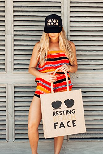 Mother Trucker & Co. Resting Beach Face Beach Tote