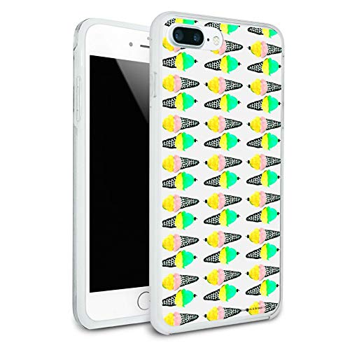 (Ice Cream Cones Pattern Protective Slim Fit Hybrid Rubber Bumper Case Fits Apple iPhone 8 Plus)