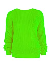PURL Women's Oversized Baggy Chunky Knitted Jumper Pullover