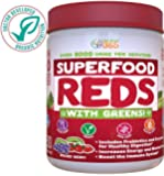 Doctor-Formulated: Superfood Vital Reds With Greens, Made with Organic Ingredients , Vitamins & Minerals, Whole Food Powder - Fruits, Veggies, Probiotics, Digestive Enzymes & 50 Polyphenols