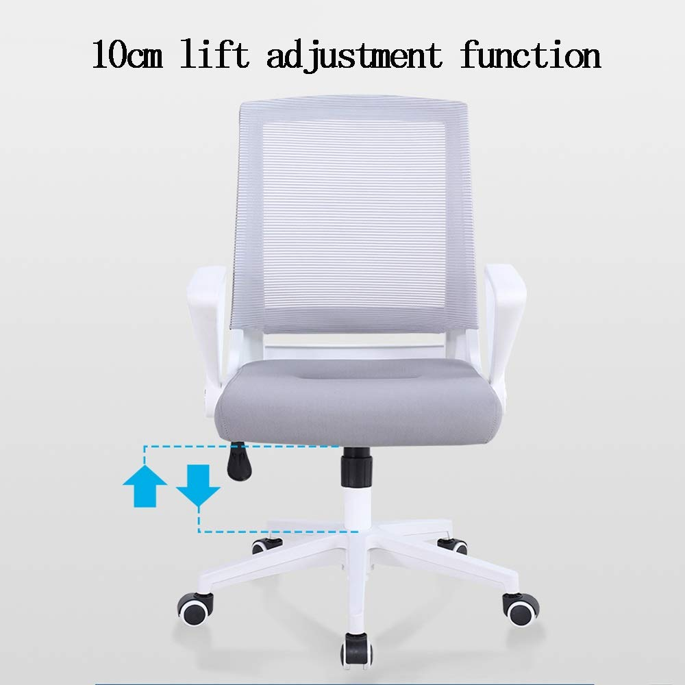 LJHA kontorsstol, ergonomisk svängbar stol höjdjusterbar datorstol (5 färger) kontorsstol (färg: Stil 5) stil 3