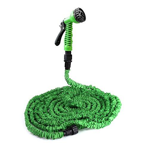 [pro.tec] Gartenschlauch / Wasserschlauch grün 30m flexibel dehnbar - Flexi-Wonder 3/4 Zoll Sprüh-Schlauch praktisch für Haus & Garten - Zauberschlauch zur Gartenbewässerung, Rasenbewässerung