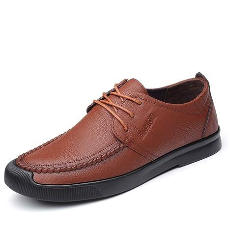 HILOTU Zapatos Oxford para Hombre Formal Pure Color Shoes ...