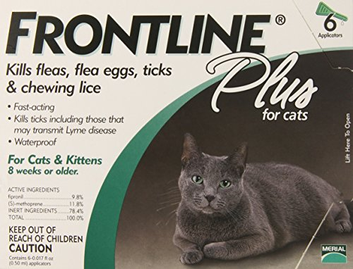 Merial Frontline Plus Flea and Tick Control for Cats and Kittens 6 Doses