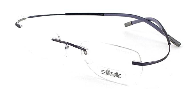 af72b58eaac Amazon.com  Silhouette TMA 6639 40 Eyeglasses 6057 Violet Purple ...