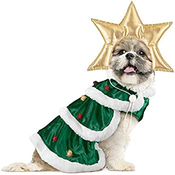 Collections Etc Christmas Tree Dog Christmas Outfit, Small - Amazon.com: Collections Etc Mrs. Claus Christmas Dog Outfit With