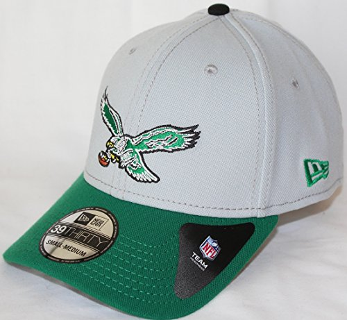 New Era Flex Fit Hats - Philadelphia Eagles New Era NFL 39THIRTY Throwback Logo Gray Neo Flex Fit Hat