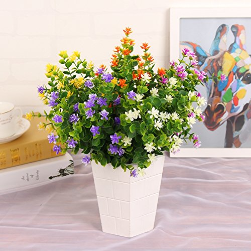 Kingbuy-Artificial-Flowers-6-Bundles-Outdoor-UV-Resistant-Plants-Shrubs-Plastic-Leaves-Fake-Bushes-Greenery-for-Plants-Indoor-Outside-Hanging-Planter-Home-Patio-Yard-Garden-Decor-Window-Box