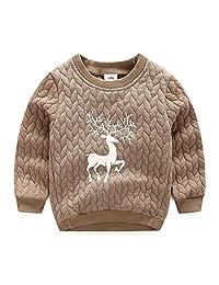 LittleSpring Little Boys Outerwear Animal Christmas
