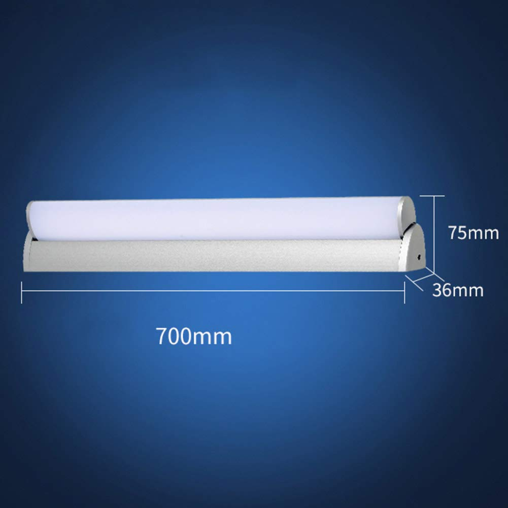 Impermeable Antiniebla Cableado Espejo de luz Interiores Ba/ño Tocador Vestidor Aplique pared-Blanco Fr/ío 60cm-14W TopDeng /Ángulo ajustable LED Espejo de la l/ámpara