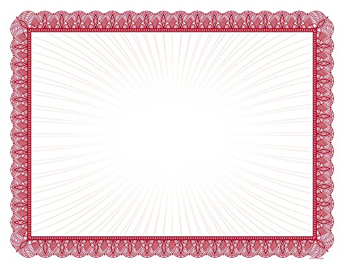 Great Papers! Red Value Certificate, 8.5'' x 11'', 100 Count (961034) by Great Papers!