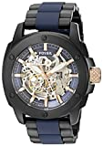 Fossil Men's ME3133 Modern Machine Automatic Black & Blue Strap (Small Image)