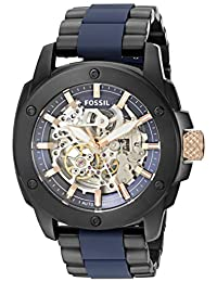 Fossil Men's Japanese Automatic Stainless Steel Casual Watch, Color:Two Tone (Model: ME3133)